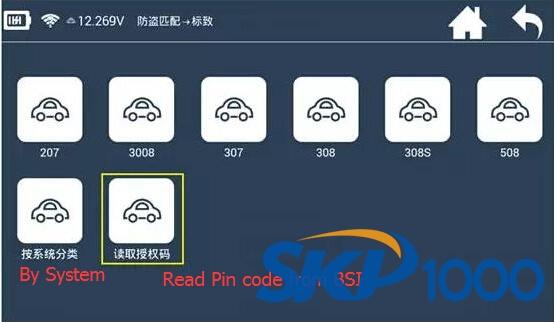 Lonsdor K518 Read Peugeot 408 BSI Pin code and Program All