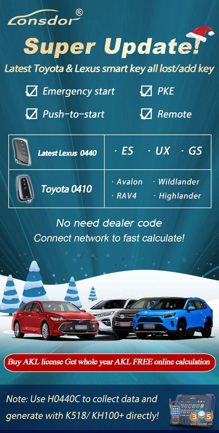 lonsdor toyota smart key update 1